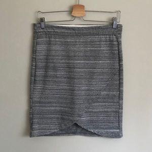 🍓3/$25 NWOT Joe Fresh // Tulip Wrap Skirt in Grey